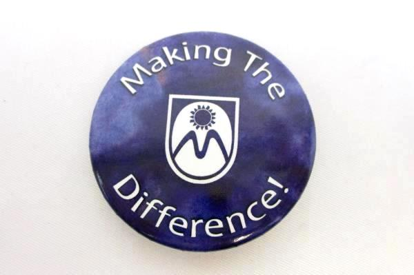 Making The Difference! Purple Pin Round Button Style 2002