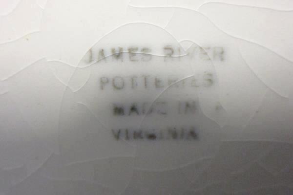 James River Potteries Serving Set For 8 Sauce Bowls Virginia White Pink Rose
