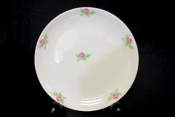 James River Potteries Serving Set For 8 Bread Plates Virginia White Pink Rose