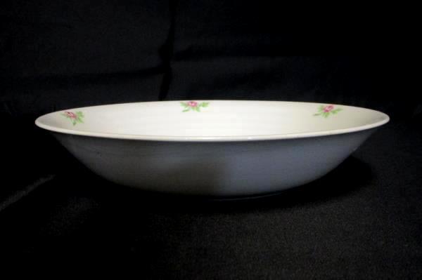 James River Potteries Serving Set For 8 Lg Soup Bowls Virginia White Pink Rose