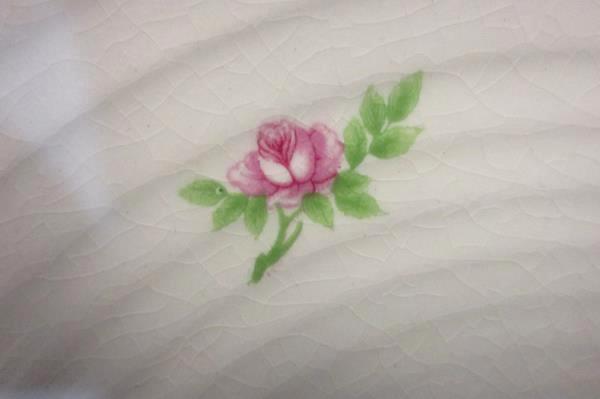 James River Potteries Serving Set For 7 Dinner Plates Virginia White Pink Rose