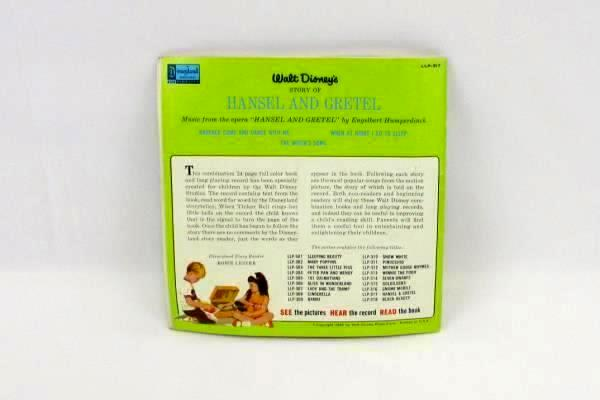 1967 Walt Disney The Story of Hansel and Gretel Record Songs Included LLP-317