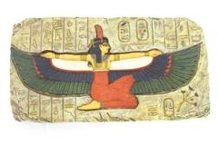 Egyptian Style Ma'at Winged Goddess Wall Plaque 2001 Summit Collection Signed