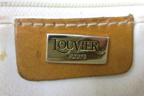 Vintage Louvier Cream Brown Purse Shoulder Bag Vinyl Corduroy Texture Adjustable