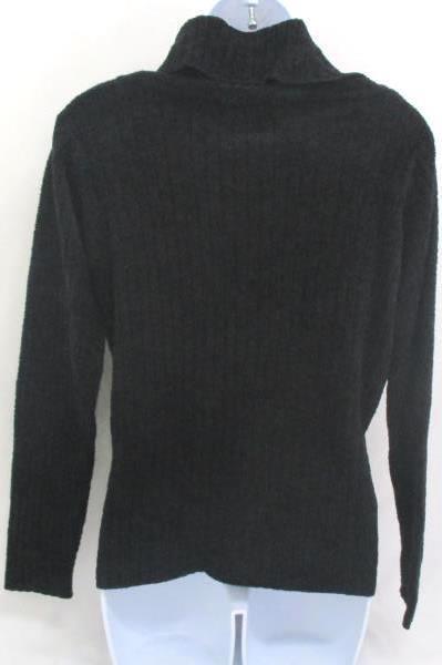 Women's Small Black Sweater Pullover Cozy Cowl Neck Jones New York Sport