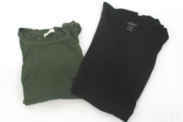 Lot of 2 Women's Tops Sweater L/S Shirt Black Greet Delirious Occasion Small