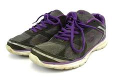 "Women's Rawlings ""Emily"" Grey/Purple Memory Foam Coolflo System Size 8 In Box"