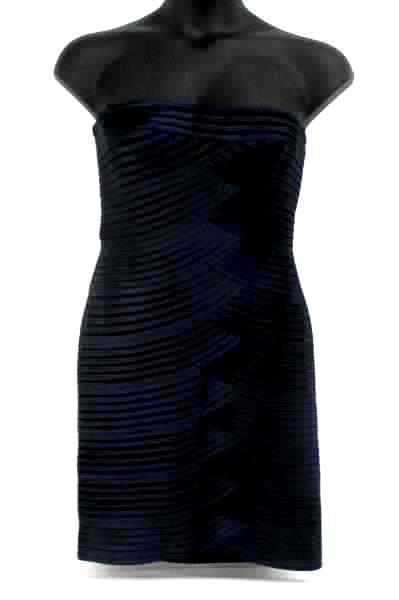 BCBG Max Azaria Beverly Strapless Dress Blue Bloomingdales PCS6G715/DKINK 12
