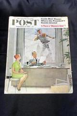 Saturday Evening Post Magazine Sept 17 1960 Is There a Women's Vote Rockwell Ad