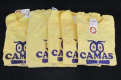 Lot of 5 Custom Ink Camas Owl Yellow TShirts Various Sizes Oscar Wilde Quote