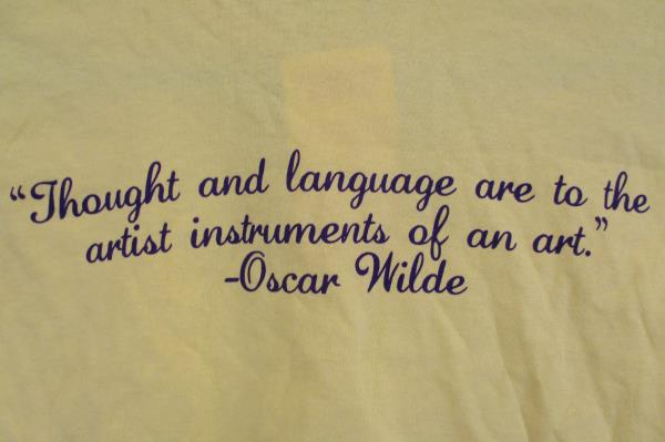 Lot of 5 Custom Ink Camas Owl Yellow T Shirts Various Sizes Oscar Wilde Quote