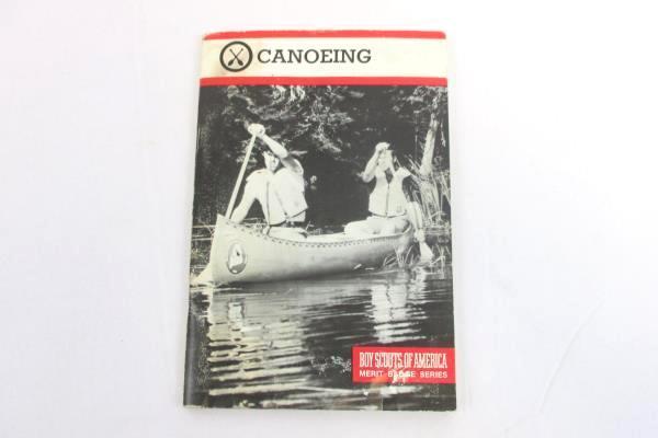 Vintage Canoeing Boy Scouts Of America Merit Badge Series Book