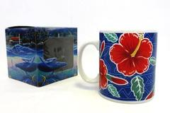 Pacific Splendor Hawaii Coffee Mug Cup Red Hibiscus In ABC Box 1999 Island
