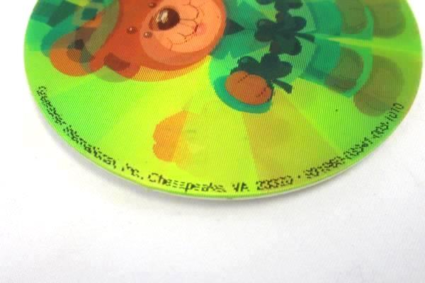 St Patricks Day Patty's Day Bear Clover Lenticular Button Pinback Lapel