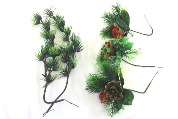 Artificial Lot Christmas Holiday Decor Star Ornament Pine Cone Berries Craft DIY