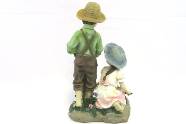 Boy & Girl Gardening Figurine Planting Flowers Decor Display Mothers Day