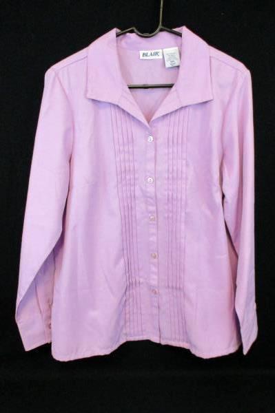 Lot of 2 Women's Tops Blouse Tank Shirts Purple Susan Graver Blair Size M