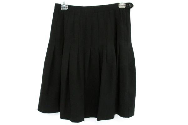 Women's Ann Freedberg Black Pleated A Line Skirt Size 10