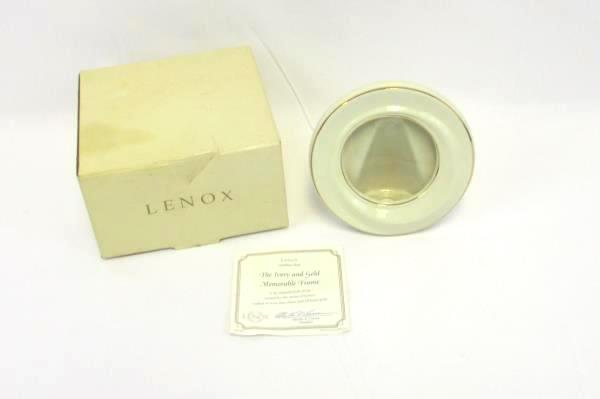 LENOX Ivory China & Gold Memorable Frame with COA and Box