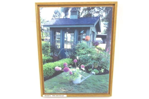 Set of 4 Wood Photograph Wine Country McMinnville Oregon Water Landscape Garden