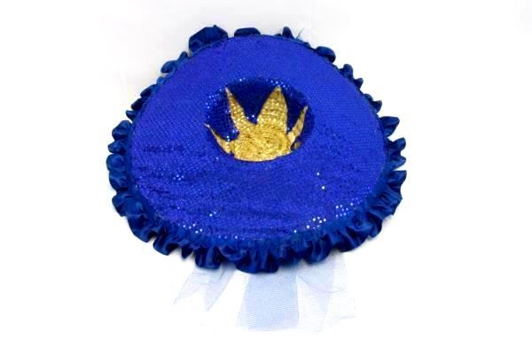 Flashy Hat Purple Blue Glitter Sequin Tulle Bow Hat Sun Glamour Handmade