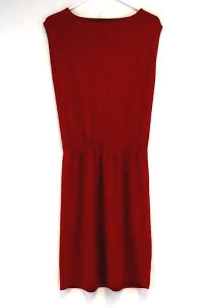 Women's TALBOTS Elastic Waist Tunic RED Dress Size P