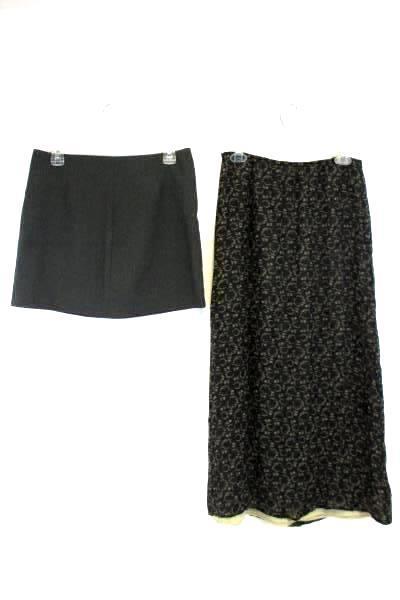 Lot of 2 Women's Juniors Skirts A. Byer Max Studio Mini Long Maxi Sz 9 Medium