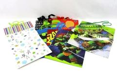 Lot of 8 Birthday Gift Bags TMNT Batman Teenage Mutant Ninja Turtle Kid Party