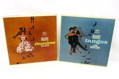 2 Vinyl LP Records Arthur Murray Favorites Tangos Rhumbas Chuy Reyes Les Baxter