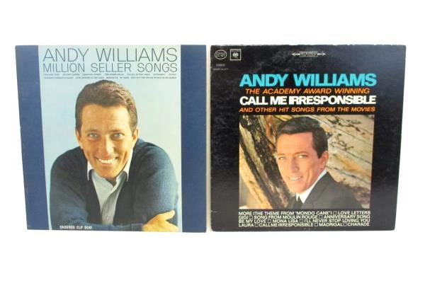 Lot of 6 LP Records Andy Williams Moon River Godfather Million Seller