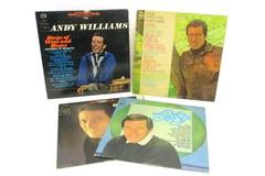 Lot of 4 LP Records Andy Williams Born Free Days Wine Roses Love Movie Themes