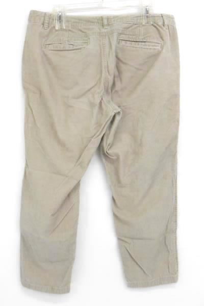 Dockers Beige Corduroy Straight Leg Pants Women's 12 M 100% Cotton