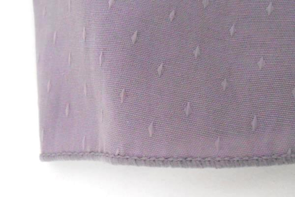 Frosted Lilac Purple Glass Vase and Round Tablecloth Set Home Table Decor