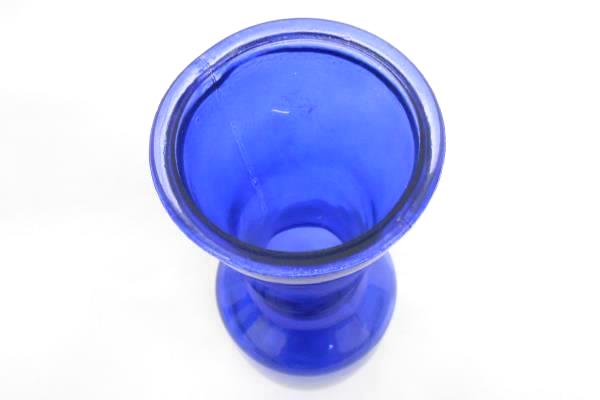 """Lot of 3 Matching Skinny Classic Style Vases Cobalt Blue 9"""" Tall"""