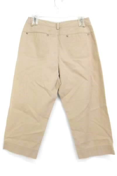 Liz Claiborne Petites Lizwear Jeans Khaki Beige Crop Capri Pants Women's 8P