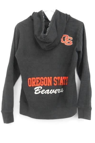 Women Jones & Mitchell Gray Pullover Hoodie Sweatshirt Oregon State Beavers S