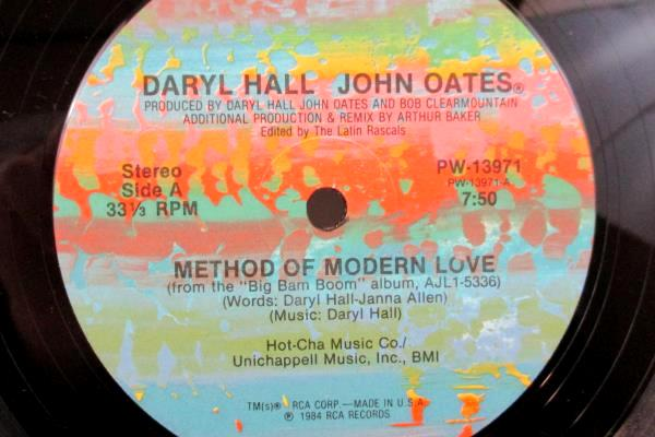 """Hall & Oats LP 33 RPM """"Method Of Modern Love"""" RCA Records 1984 12"""" Record"""