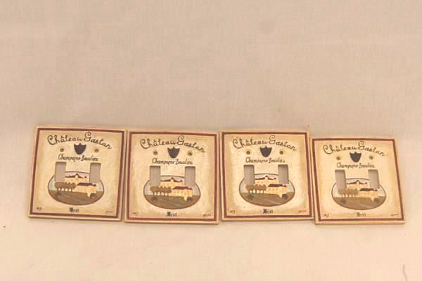 Lot of 4 French France Countryside Champagne Chateau Gaston Double Switch Plate