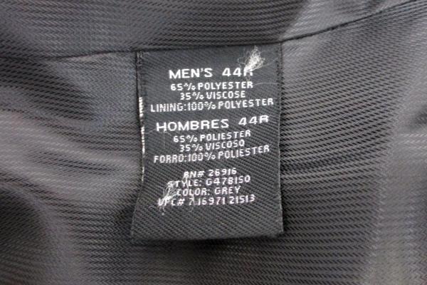 Men's George Black Pinstripe Blazer Jacket Sport Coat 3 Button Size 44 R