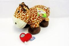 Zoomworks Stuffies Sky The Giraffe with Pocket Zippered Mouth