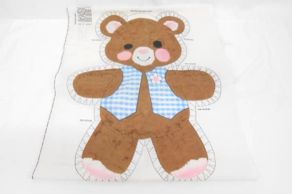 Lot Craft Fabric Sewing Pattern Spring Mills Teddy Bear Embroidered Print Angels