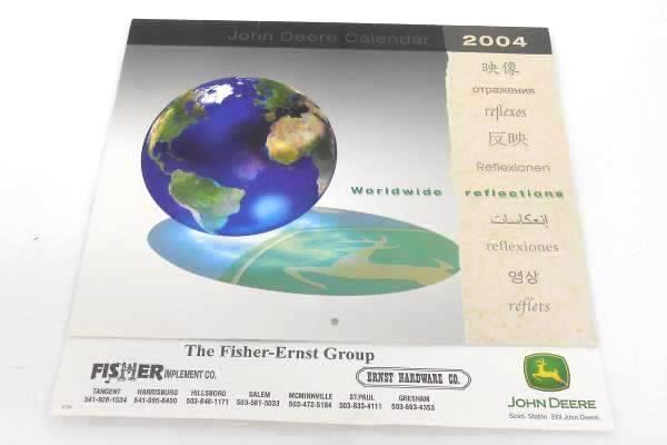 John Deere 2004 Calendar WORLDWIDE REFLECTIONS The Fisher-Ernst Group Unused