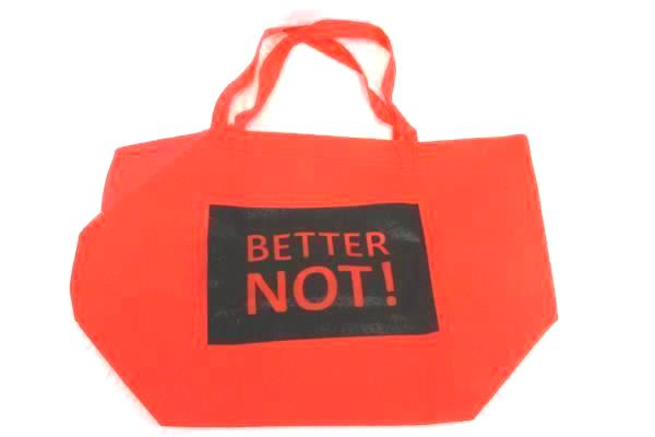 Lot of 3 Quote Reusable Shopper Tote Bags Think It Buy It Better Not Humor