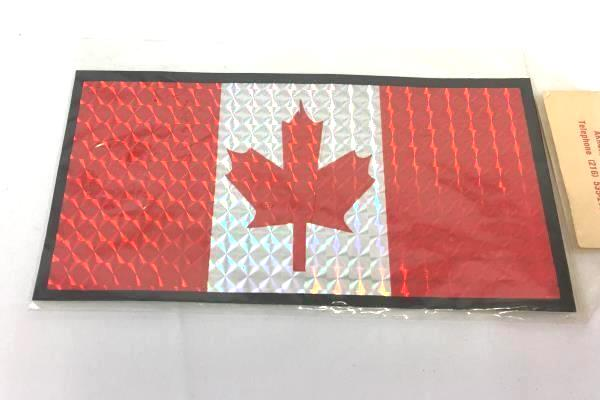 "Canada IMC 'Mr. Interstate Sunshine"" Canada Leaf Flag Sticker Reflective Prism"