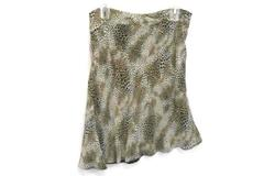 WORTHINGTON Business Career Asymmetrical Hemline Skirt Animal Print Size 12
