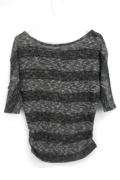 Chris & Carol Knit Sweater Women's Shimmer Black White Speckled Size L