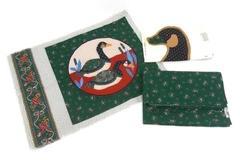 Vintage Cranston VIP Fabric Calico Goose Collection Soft Sculpture Pillow