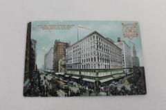 1909 Ptd Photo PC State & Madison St. Chicago Looking N & E Frm Mandel Bros Bldg