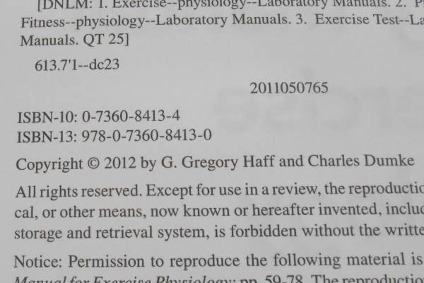 Laboratory Manual For Exercise Physiology by G Gregory Haff Charles Dumke