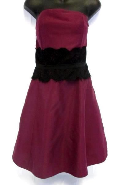 Behnaz Sarafpour Women Junior's Strapless Tea Length Empire Waist Dress Size 13